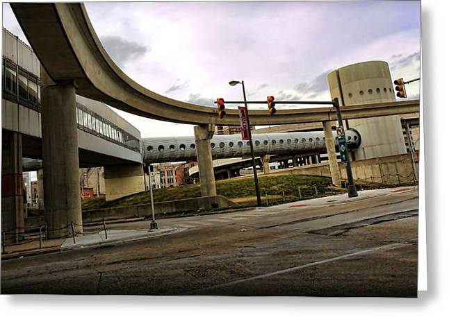 Yzerman Greeting Cards - Tube Track Road Greeting Card by Gordon Dean II