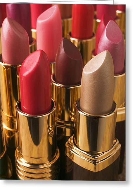 Tubes Of Lipstick Greeting Card by Garry Gay