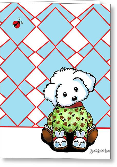 Pajamas Greeting Cards - Tuck in PJs Greeting Card by Catia Cho