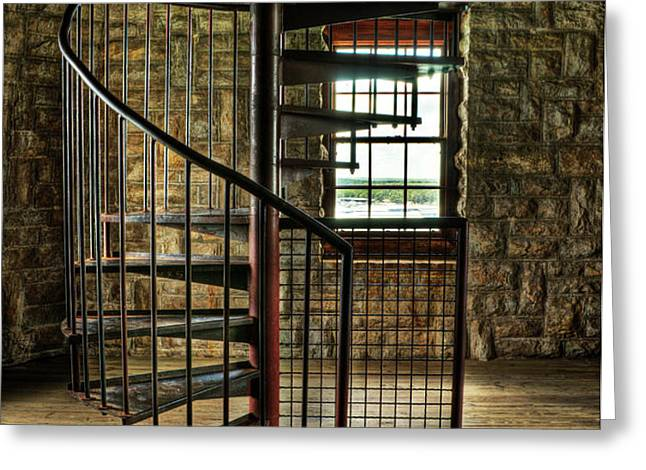 Tucker's Tower Winding Staircase Greeting Card by Tamyra Ayles