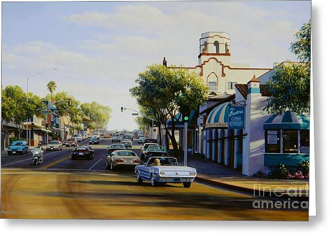 Pch Paintings Greeting Cards - Tuesday in Laguna Beach Greeting Card by Frank Dalton
