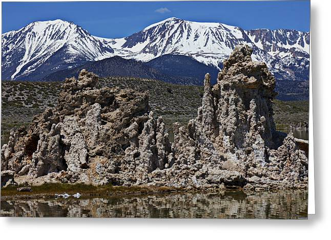Tufa Greeting Cards - Tufa at Mono Lake California Greeting Card by Garry Gay