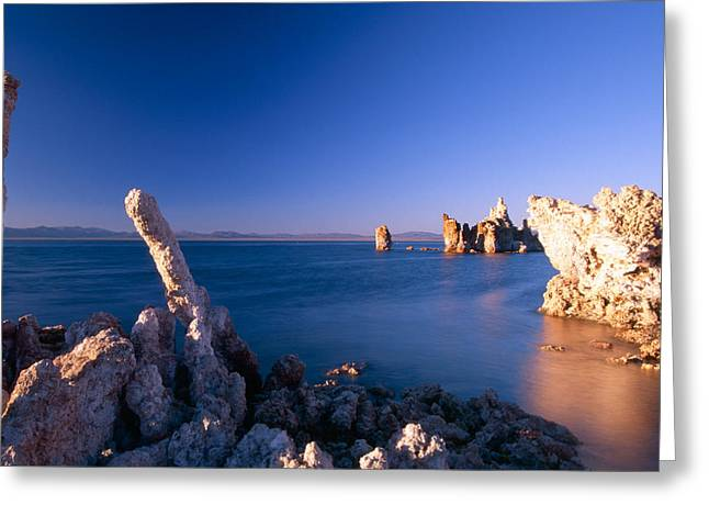 Alkaline Greeting Cards - Tufa Towers in Mono Lake Greeting Card by George Oze