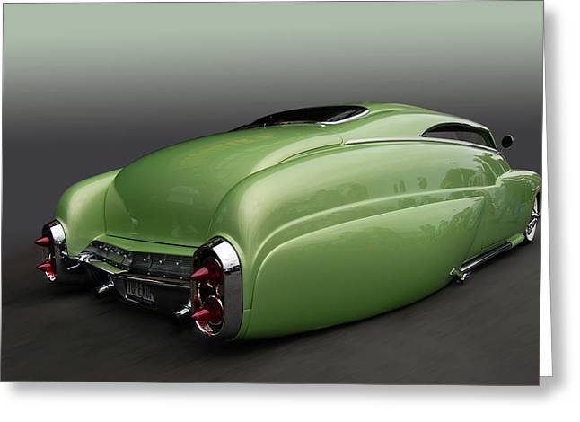 Cruisin For A Cure Greeting Cards - Tufenuf Merc Sled Greeting Card by Bill Dutting