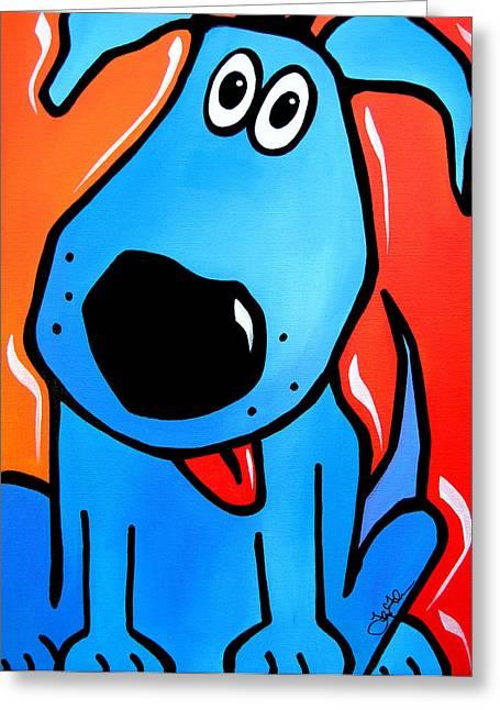 Fidostudio Greeting Cards - Tuffy Greeting Card by Tom Fedro - Fidostudio