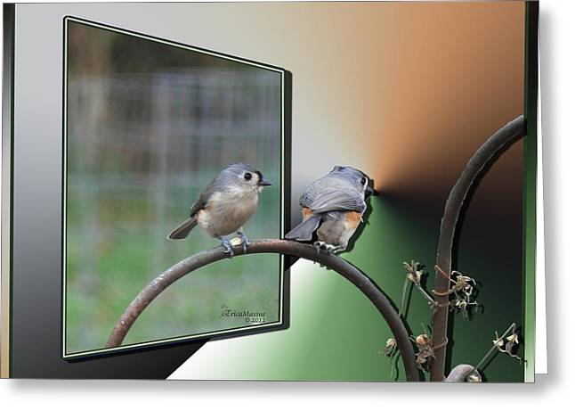 Oof Greeting Cards - TUFTED TITMICE-1st Place in OOF Contest Greeting Card by EricaMaxine  Price
