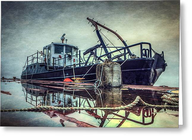 Tug Greeting Cards - Tug in the Fog Greeting Card by Everet Regal
