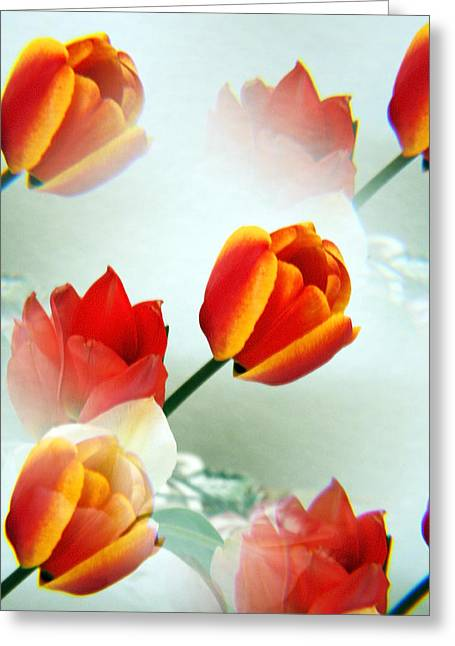 Tulip Abstract Greeting Card by Marilyn Hunt