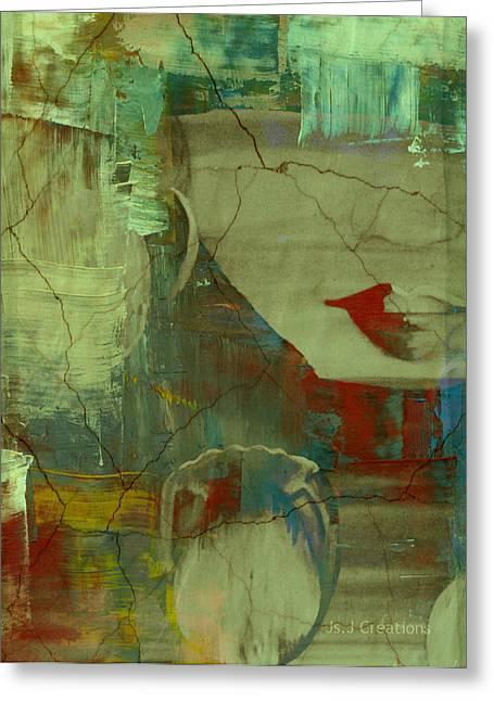 Jan Steadman-jackson Greeting Cards - Tulip Girl Greeting Card by Jan Steadman-Jackson