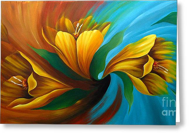 Floral Photographs Paintings Greeting Cards - Tulip in Motion Greeting Card by Uma Devi