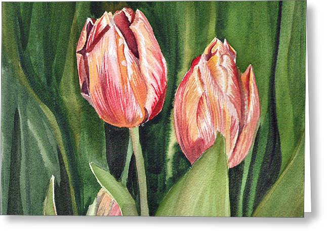 Anniversary Gift Greeting Cards - Tulips  Greeting Card by Irina Sztukowski