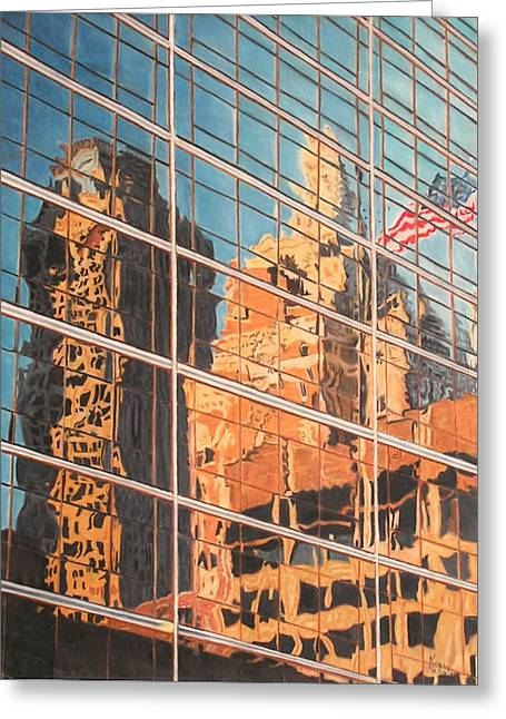 Prisma Colored Pencil Greeting Cards - Tulsa Relections 2 Greeting Card by Kenny King