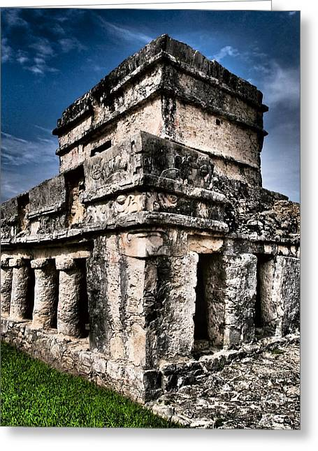 Tulum Ruinas 1 Greeting Card by Skip Hunt