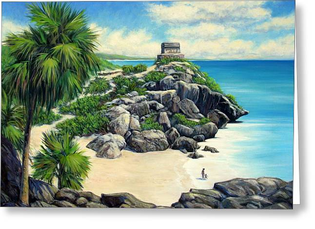 Tulum Ruins Mexico Greeting Card by Vickie Fears