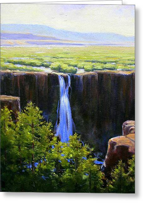 Tumbling Falls Co Greeting Card by Vickie Fears