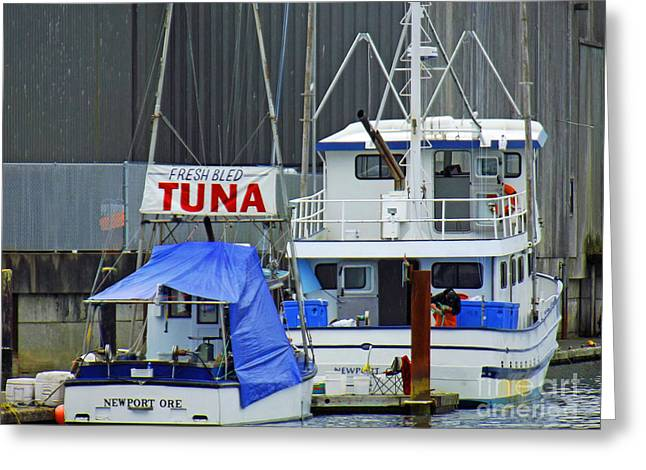 Working Boats Greeting Cards - Tuna Boats Greeting Card by Methune Hively