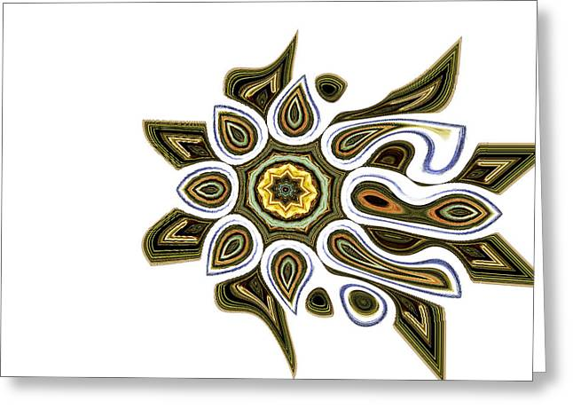 Abstract Style Greeting Cards - Tunava Greeting Card by Danny Lally