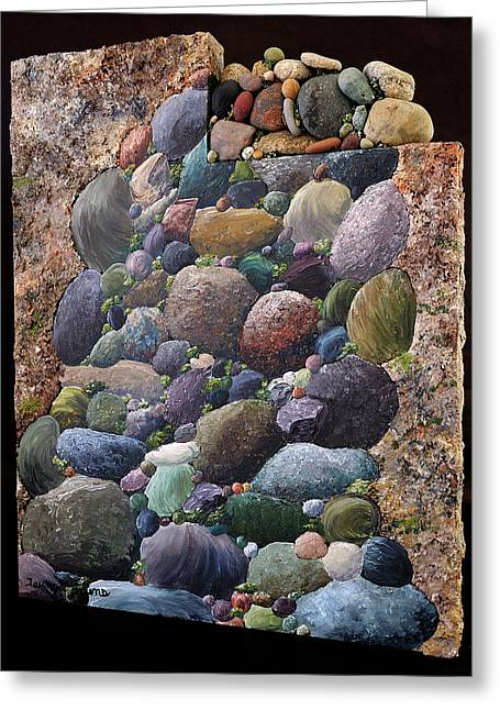 Rock Sculptures Greeting Cards - Tundra Greeting Card by Taunya Bruns