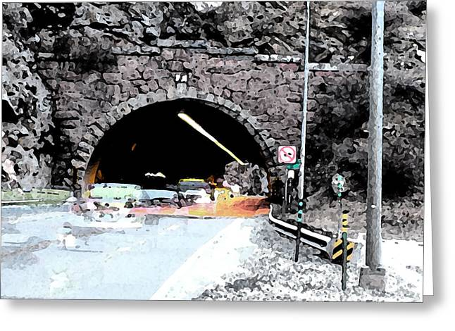 Rte 1 Greeting Cards - Tunnel 1 Clear Creek Canyon Greeting Card by Bill Kennedy