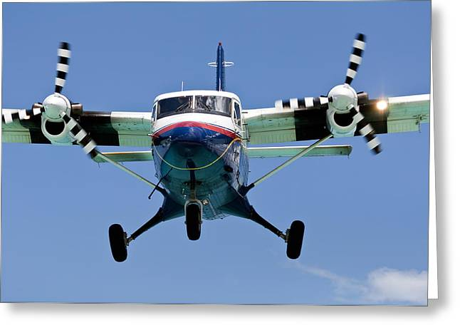 Commuter Plane Greeting Cards - Turboprop passenger airplane. Greeting Card by Fernando Barozza