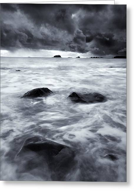 Squall Greeting Cards - Turbulent Seas Greeting Card by Mike  Dawson