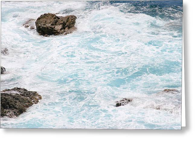 Effervescent Greeting Cards - Turbulent Waters Greeting Card by Francisco Leitao