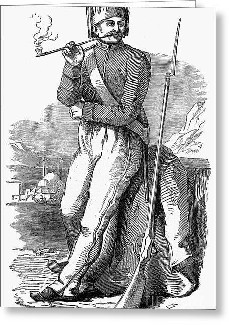 Bayonet Greeting Cards - Turkey: Soldier, 1853 Greeting Card by Granger