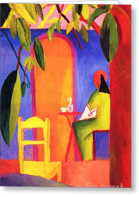 Macke Greeting Cards - Turkish Cafe II Greeting Card by Pg Reproductions