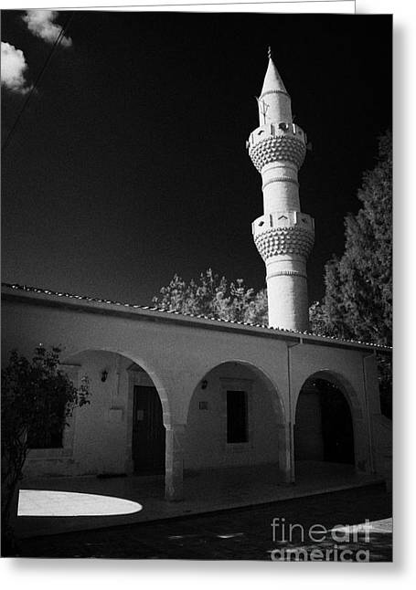 Kypros Greeting Cards - Turkish Cypriot Mosque In Mixed Divided Pyla Village Republic Of Cyprus Greeting Card by Joe Fox