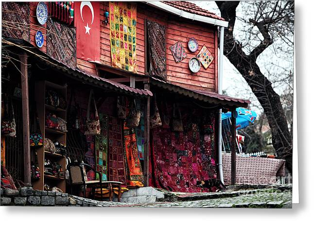 Sultanhmet Greeting Cards - Turkish Goods Greeting Card by John Rizzuto