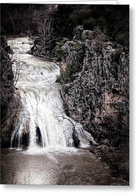 Turner Falls Roar Greeting Card by Tamyra Ayles