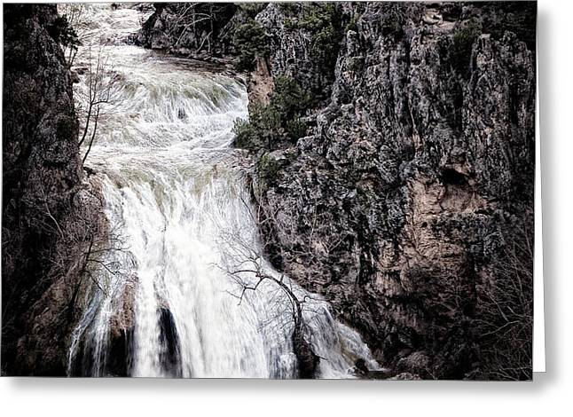 Turner Falls Roar Greeting Card by Tamyra Ayles