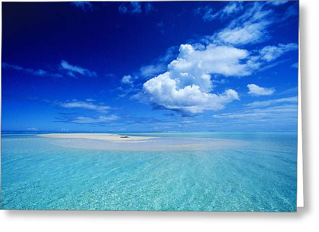 French Open Greeting Cards - Turquiose Lagoon Greeting Card by Ron Dahlquist - Printscapes