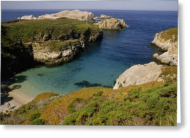Best Sellers -  - Point Lobos Reserve Greeting Cards - Turquoise colored waters Greeting Card by National Geographic