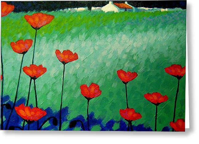 Nature Poster Greeting Cards - Turquoise Meadow Greeting Card by John  Nolan