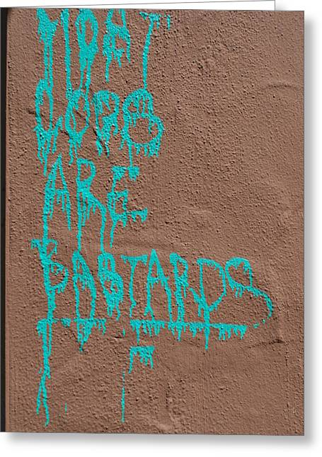 Free Speech Photographs Greeting Cards - Turquoise Politics Greeting Card by Marco Kienle