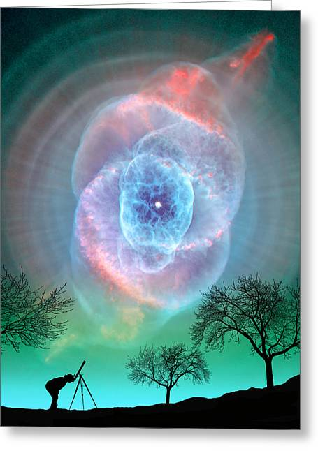 Super Stars Greeting Cards - Turquoise Super Nova Greeting Card by Larry Landolfi
