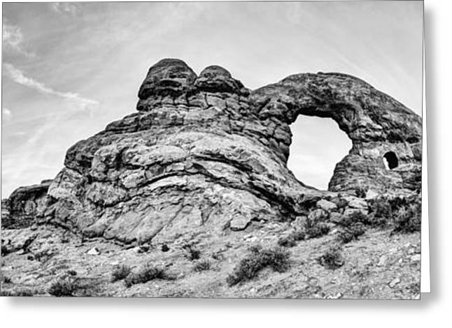 Turret Pano Greeting Card by Chad Dutson