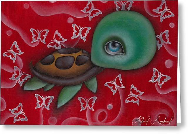 Turtle Greeting Card by  Abril Andrade Griffith