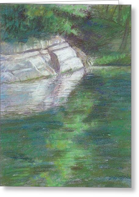 Dallas Pastels Greeting Cards - Turtle Creek Bluff Greeting Card by Michael Gillespie