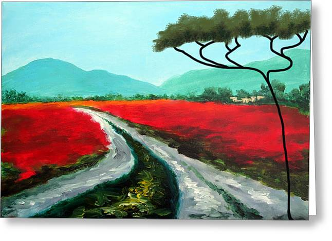 Larry Cirigliano Greeting Cards - Tuscan Bliss Greeting Card by Larry Cirigliano