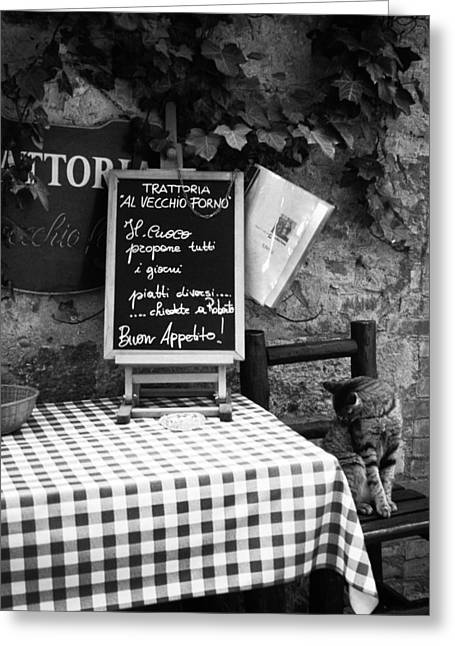 Menu Greeting Cards - Tuscan Cafe Diner Greeting Card by Andrew Soundarajan