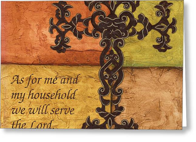 Scripture Greeting Cards - Tuscan Cross Greeting Card by Debbie DeWitt
