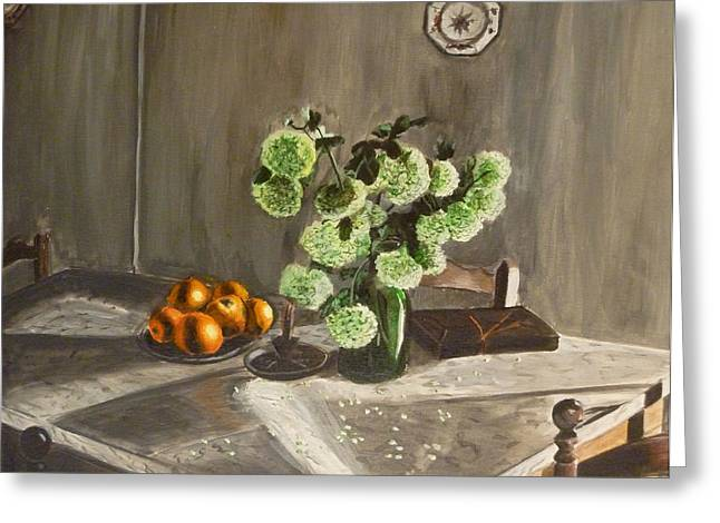 Indoor Still Life Paintings Greeting Cards - Tuscan Kitchen Greeting Card by Demian Legg