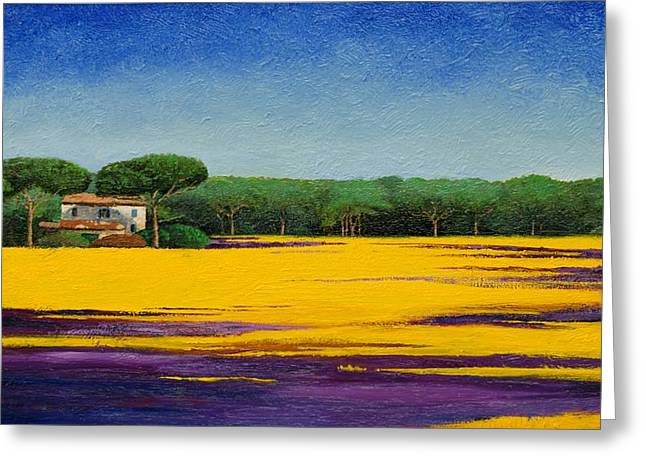 Italian Landscapes Greeting Cards - Tuscan Landcape Greeting Card by Trevor Neal