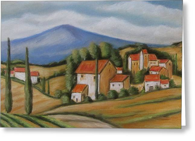 Melinda Saminski Greeting Cards - Tuscan Landscape Greeting Card by Melinda Saminski