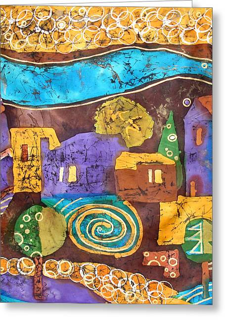 Chianti Tapestries - Textiles Greeting Cards - Tuscan Landscape Greeting Card by Sandra Kern