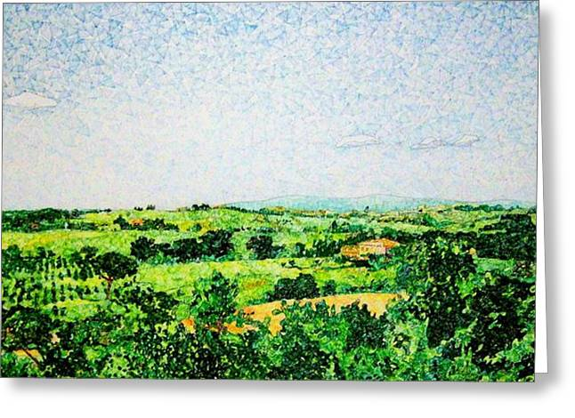 Awesome Mixed Media Greeting Cards - Tuscan Long View Greeting Card by Jason Allen