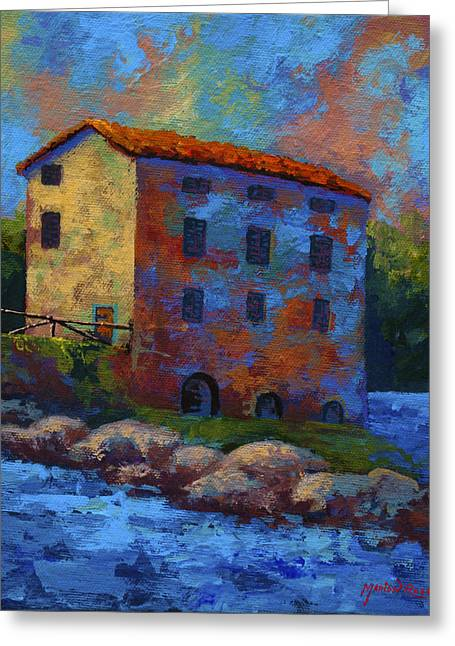 Mill Greeting Cards - Tuscan Mill Greeting Card by Marion Rose