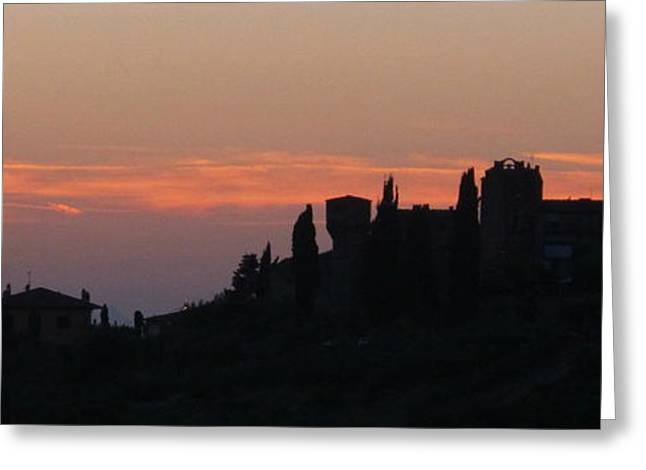 Tuscan Sunset Greeting Cards - Tuscan Sunset Greeting Card by Judy Witts